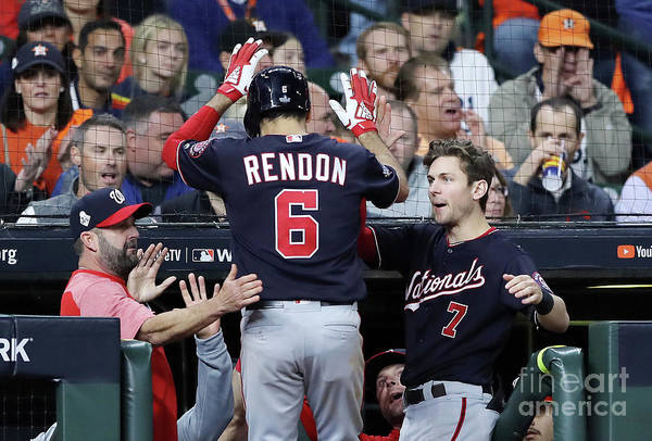 People Art Print featuring the photograph Trea Turner and Anthony Rendon by Elsa