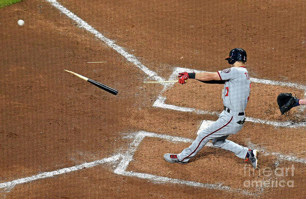 Atlanta Art Print featuring the photograph Trea Turner by Scott Cunningham