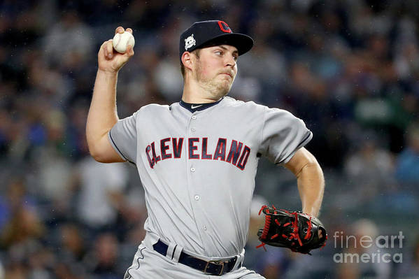 Three Quarter Length Art Print featuring the photograph Trevor Bauer by Al Bello