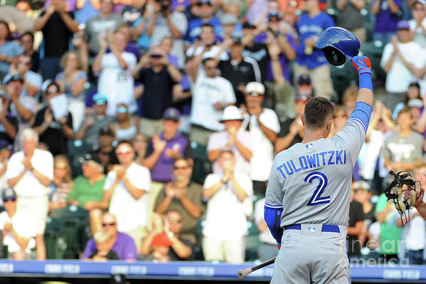Crowd Art Print featuring the photograph Troy Tulowitzki by Bart Young