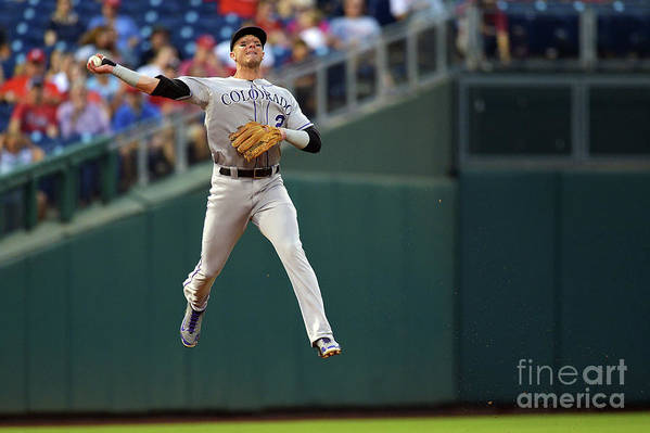 Second Inning Art Print featuring the photograph Troy Tulowitzki by Drew Hallowell