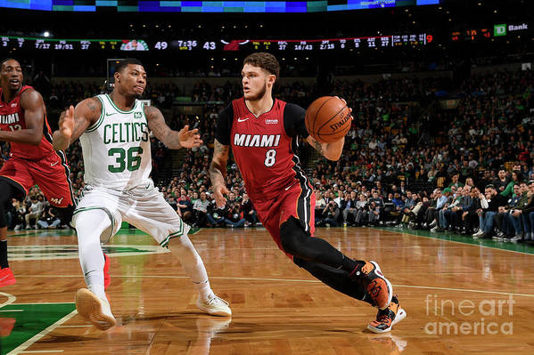 Nba Pro Basketball Art Print featuring the photograph Tyler Johnson by Brian Babineau