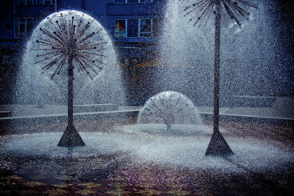 Water Fountains Art Print featuring the photograph Urban Art by Tatiana Travelways