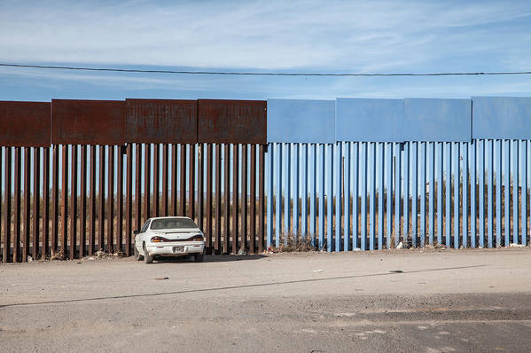 The End Art Print featuring the photograph US-Mexico border fence by Christina Felschen