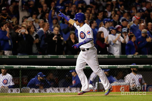 Second Inning Art Print featuring the photograph Willson Contreras by Jamie Squire