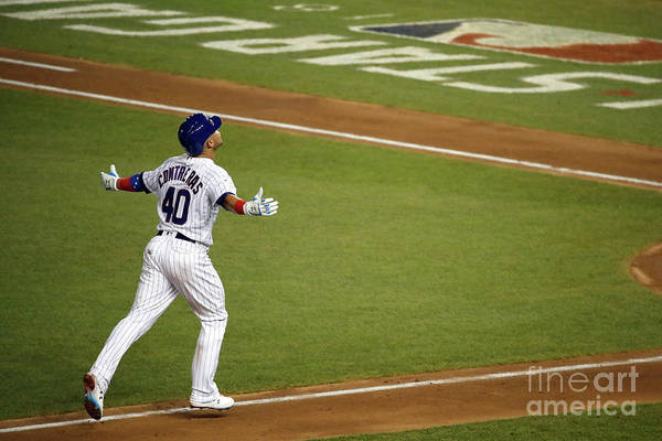 People Art Print featuring the photograph Willson Contreras by Patrick Mcdermott