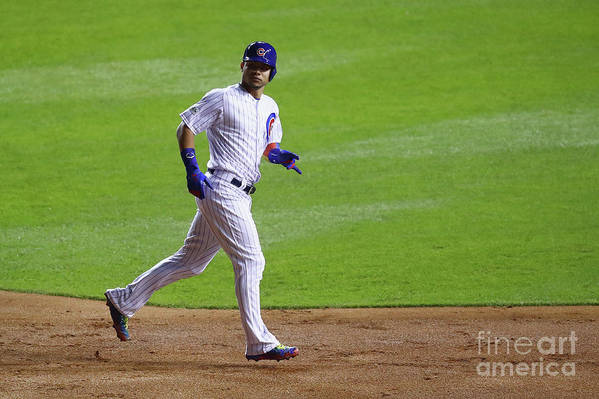 Second Inning Art Print featuring the photograph Willson Contreras by Stacy Revere