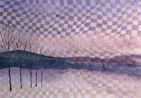 Landscape Art Print featuring the painting Winter by Linda L Doucette