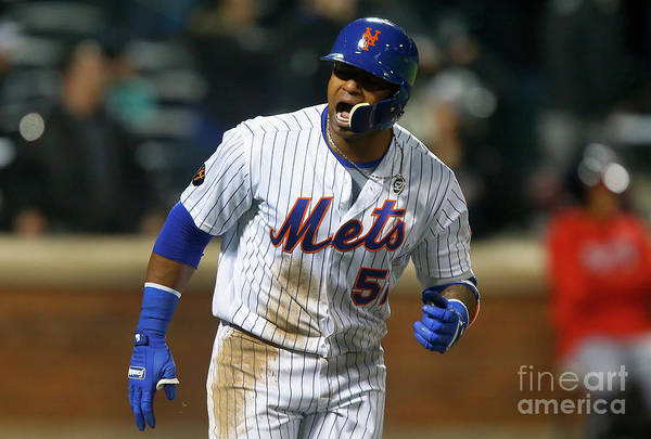 Yoenis Cespedes Art Print featuring the photograph Yoenis Cespedes by Jim Mcisaac