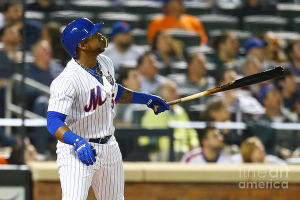 Yoenis Cespedes Art Print featuring the photograph Yoenis Cespedes by Mike Stobe