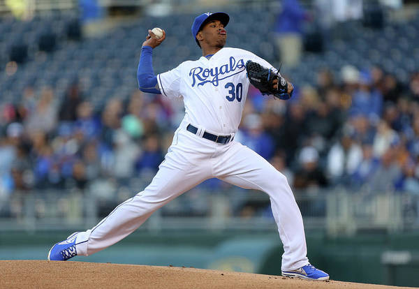 People Art Print featuring the photograph Yordano Ventura by Ed Zurga