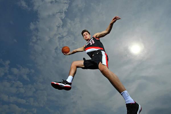 Nba Pro Basketball Art Print featuring the photograph Zach Collins by Jesse D. Garrabrant