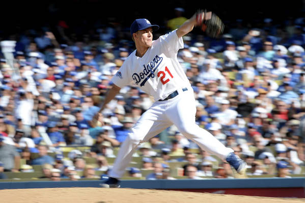 American League Baseball Art Print featuring the photograph Zack Greinke by Harry How