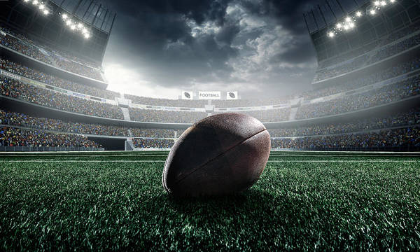 Event Art Print featuring the photograph American Football Ball by Dmytro Aksonov