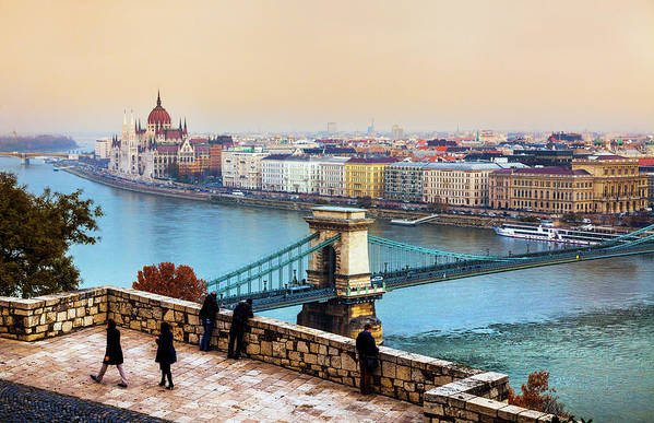 Hungarian Parliament Building Art Print featuring the photograph Budapest - Hungarian Pastels by John And Tina Reid
