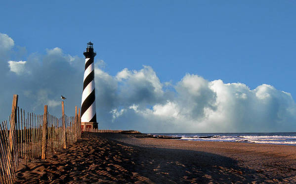 Lighthouses Art Print featuring the photograph Cape Hatteras Lighthouse Nc by Skip Willits