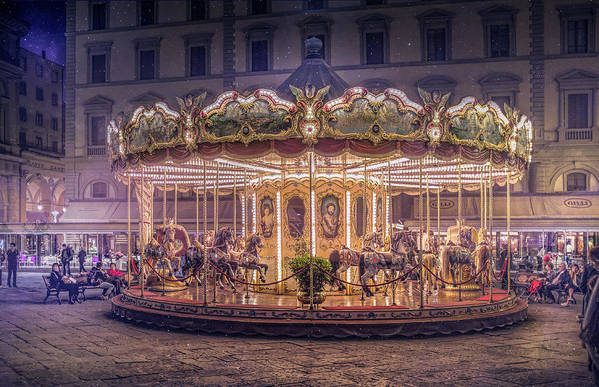 Carousel Art Print featuring the photograph Carousel by Christian Marcel