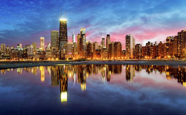 Tranquility Art Print featuring the photograph Chicago by Joe Daniel Price