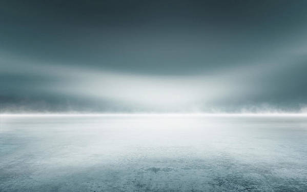 Tranquility Art Print featuring the digital art Cold Studio Background by Aaron Foster