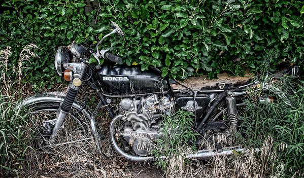 Bike Art Print featuring the photograph Honda 450 Motorcycle by Britt Runyon