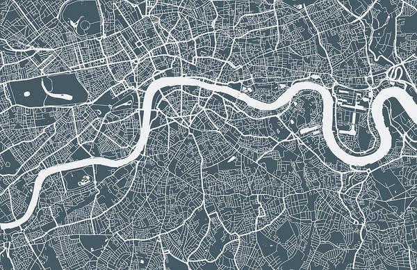 Art Art Print featuring the digital art London City Map by Mattjeacock