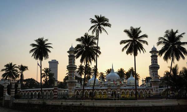 Clear Sky Art Print featuring the photograph Masjid Jamek - Kuala Lumpur by @ Didier Marti