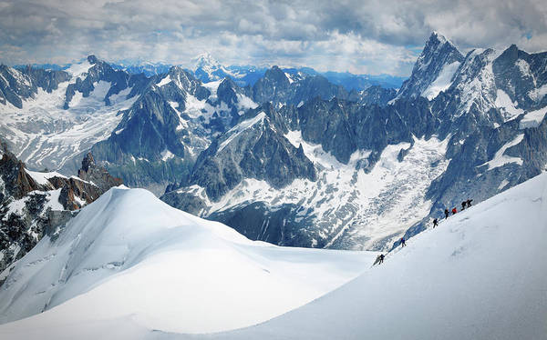 Recreational Pursuit Art Print featuring the photograph Mountain Climbers by Mammuth