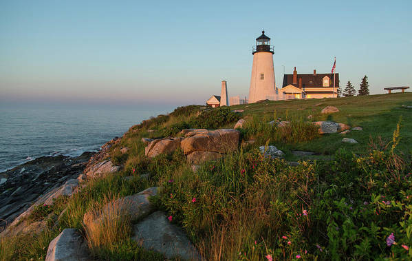 Tranquility Art Print featuring the photograph Pemaquid Point Maine Lighthouse by Dave Mention Photography