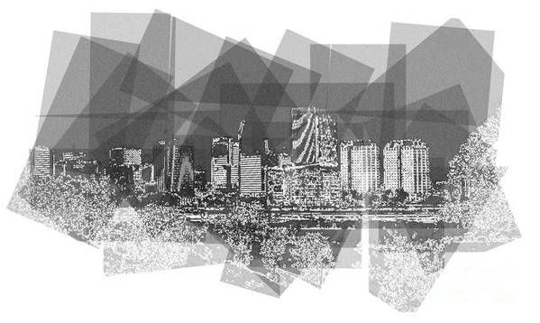 Rva Art Print featuring the photograph Pieces- City on the James by Nancy Dole McGuigan