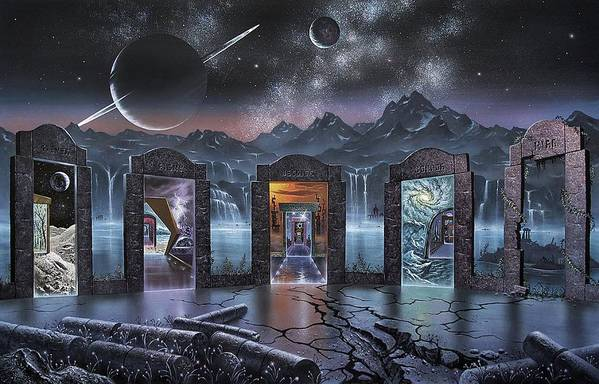 Alternate Art Print featuring the photograph Portals to alternate universes, artwork by Science Photo Library