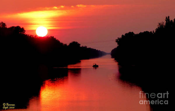 Landscape Art Print featuring the photograph September Sunset by Rennae Christman