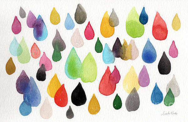Drops Art Print featuring the painting Tears Of An Artist by Linda Woods