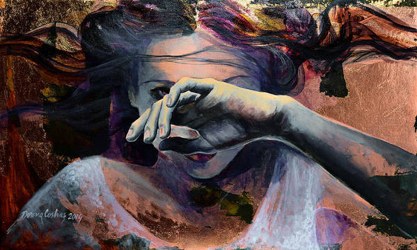 Fantasy Art Print featuring the painting Wavering... by Dorina Costras