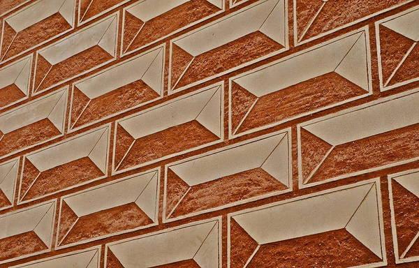 Cement Block Wall Design Art Print featuring the photograph Cement Block Wall Design by Kirsten Giving