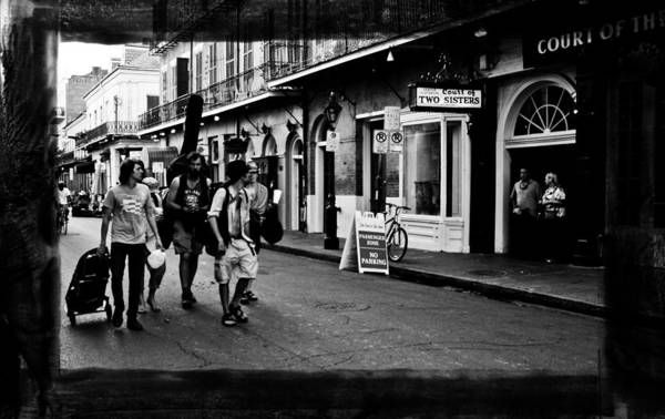 New Orleans Art Print featuring the photograph French Quarter Commute by Linda Kish