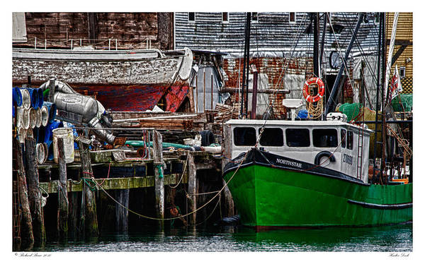Architecture Art Print featuring the photograph Harbor Dock by Richard Bean