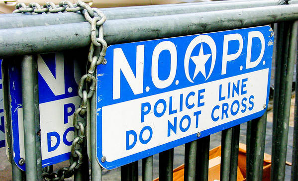 New Orleans Art Print featuring the photograph Police Line Do Not Cross by Linda Kish