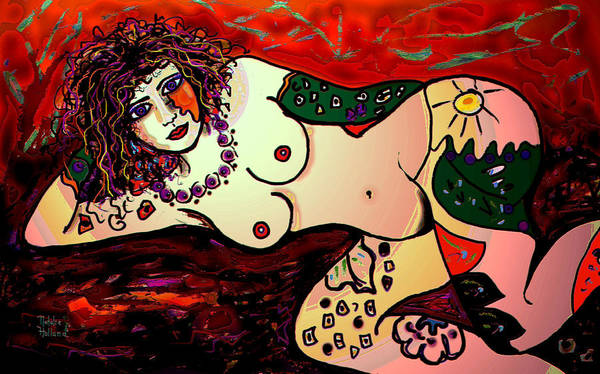 Nude Art Print featuring the mixed media Sexy Girl by Natalie Holland