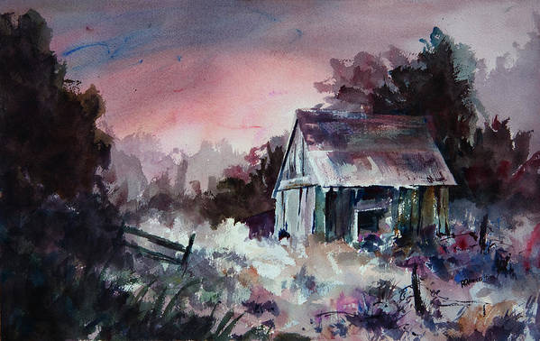 Shack Art Print featuring the painting Candy Cane by William Russell Nowicki