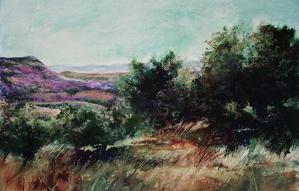 Pastel Art Print featuring the painting Davis Mountain by Marlene Gremillion