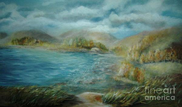 Water Art Print featuring the painting De Ja View by Vi Mosley