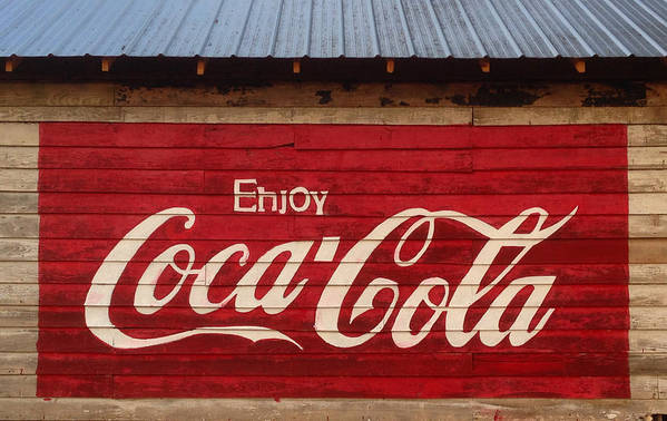 Rural Art Print featuring the photograph Enjoy Coke by Keith May