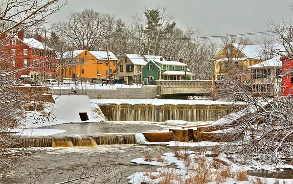 Exeter New Hampshire Art Print featuring the photograph Falls on Exeter River by Diana Nault
