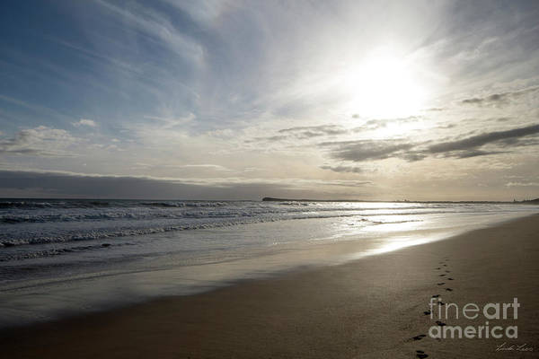 Beach Art Print featuring the photograph Footprints In The Sand by Linda Lees