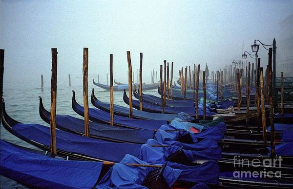 Venice Art Print featuring the photograph Gondolas In Venice In The Morning by Michael Henderson