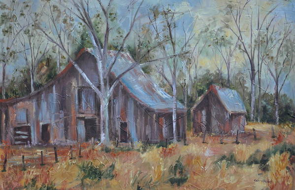 Barns Art Print featuring the painting If They Could Speak by Ginger Concepcion