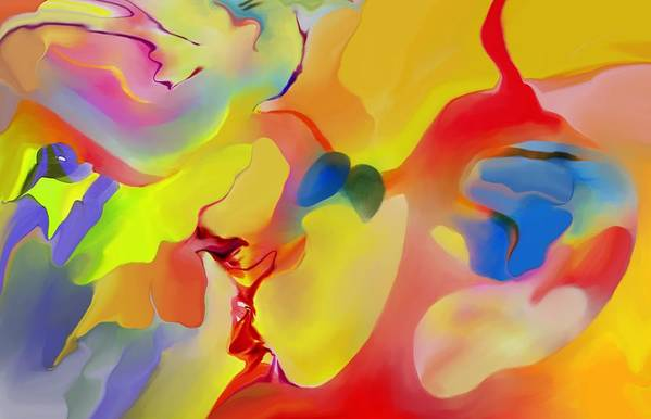 Abstact Art Print featuring the digital art Joy And Imagination by Peter Shor