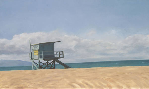 Beach Art Print featuring the painting Lifeguard Tower by Merle Keller