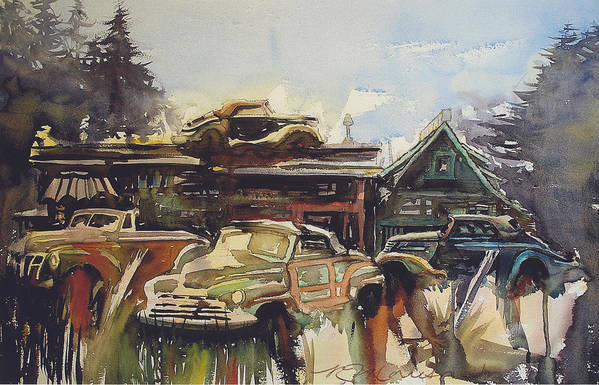 Fords Art Print featuring the painting Lytton Station 16 by Ron Morrison