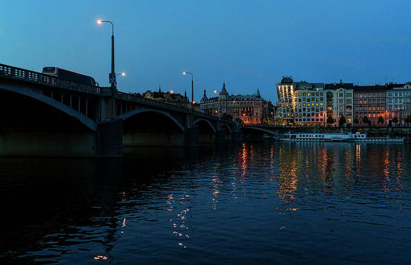 Central Europe Art Print featuring the photograph Prague Nights by Sharon Popek